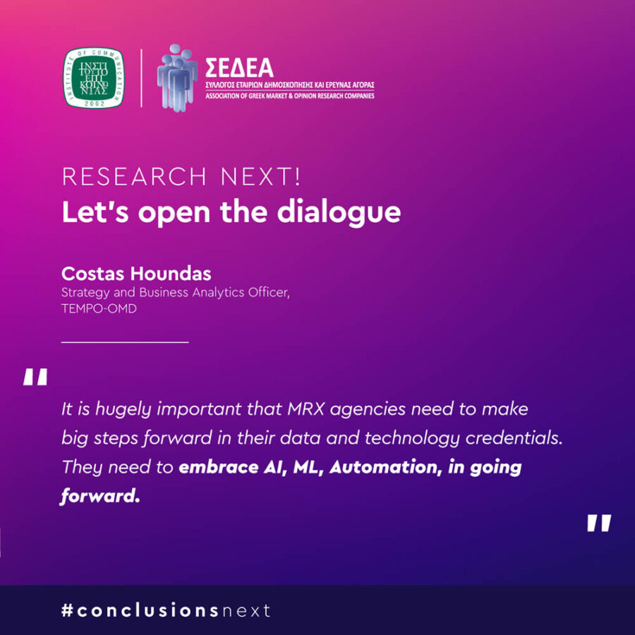 Research Next. Let's open the dialogue